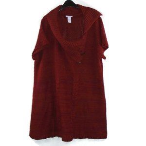 Loop 18 Sweater Mini Dress Burgundy Red 25 / 27